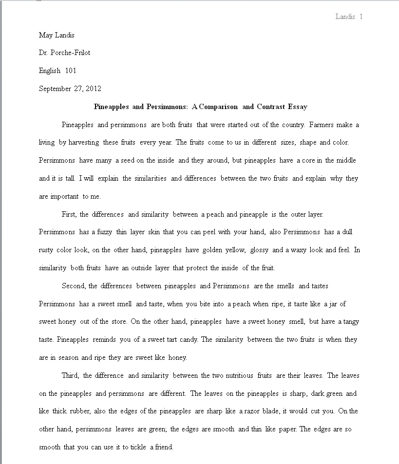 Formal Essay-Writing Language